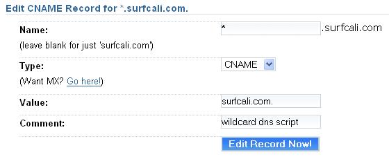 WordPress MU: DNS Wildcards