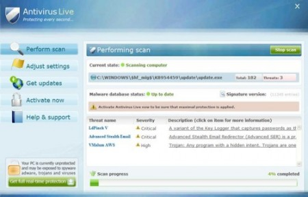 Removing Antivirus Live Virus