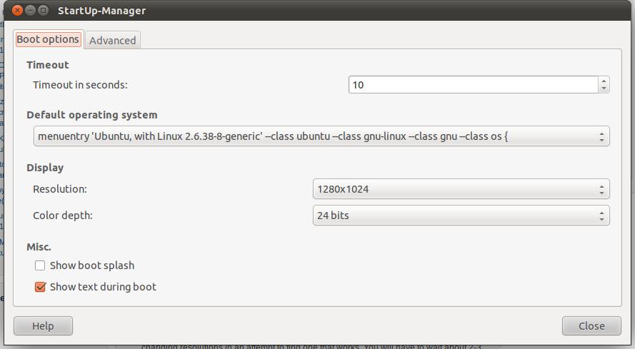 Grub: Signal Out of Range Ubuntu 11.04