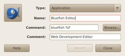 Bluefish Blank Document Workaround