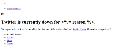 Oh Noes Twitter Is Down