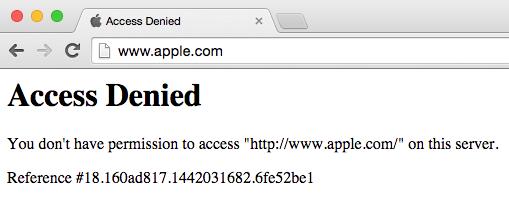 Apple.com Website is Down